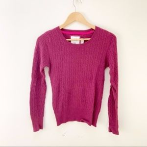 H&M marron/purple knit sweater S